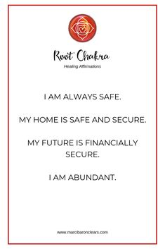 Our Root Chakra represents our foundation and feeling of being grounded. These 20 affirmations will heal your Root Chakra and raise its vibration. Chakra Healing Meditation, Throat Chakra Healing, Meditation Crystals, Sacral Chakra, Healing Affirmations, Positive Affirmations, Quotes Positive, Positive Life, Mantra