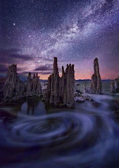 Marc Adamus - Around the Night (reminds me of Van Gogh's 'Starry Night')