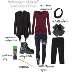 A last-minute put-together Halloween costume inspired by Nymphadora Tonks.