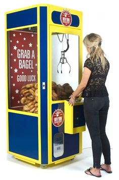 The bagel grabber was located in Hoxton Square and Shoreditch, London, and was created as part of a marketing initiative.
