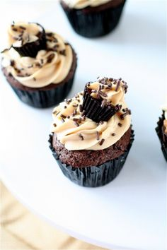 Peanut Butter Cup Cupcakes (The Curvy Carrot)