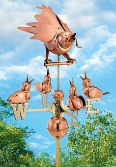 Mother Bird & Chicks Weathervane only $339.90 at Garden Fun - Whimsical Weathervanes