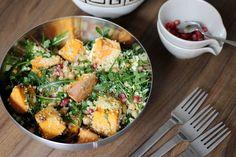 Rucola - Süßkartoffel - Kichererbsen - Couscous - Granatapfel