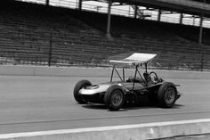 Rathman in one of smokey's indy cars