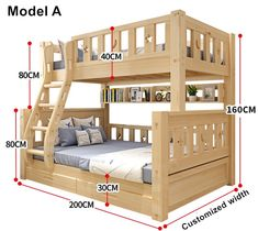 Online Shop Louis Fashion Children Bunk Bed Real Pine Wood with Ladder Stair Drawers Safe and Strong Bunk Bed Rooms, Bunk Beds With Stairs, Kids Bunk Beds, Drawer Safe, Stair Drawers, Bunk Bed Plans, Wooden Bunk Beds, Bunk Bed Designs, Bathroom Kids
