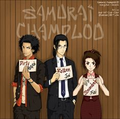 Mugen, Jin, and Fuu - Samurai Champloo - by one-of-the-Clayr.deviantart.com