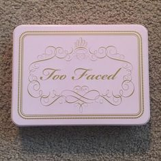 """Too Faced Tin Brand new Too Faced Tin.  This was released about 2 years ago as a Christmas Special (it was filled with some of the Too Faced """"favorites""""  Note: The lid does flex/looks crooked when opened but straightens out when closed. Too Faced Accessories"""