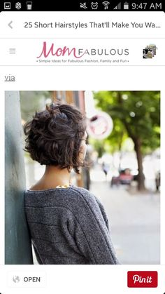 Are you thinking of cutting your hair? Well get ready to chop it because these 25 short hairstyles for women will make you want to cut your hair. Whether you have thick hair, thin hair, a round face or heart-shaped -- you'll find some hair ideas to try. Short Curly Haircuts, Short Hairstyles For Thick Hair, Curly Hair Cuts, Short Hair Cuts, Curly Hair Styles, Cool Hairstyles, Midlength Curly Hair, Short Thick Wavy Hair, Popular Short Hairstyles