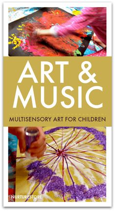 Art and music activity for children – NurtureStore Art and music activities for children, music art project for kids Music Activities For Kids, Music For Toddlers, Preschool Art Activities, Preschool Arts And Crafts, Creative Activities, Children Music, Toddler Music, Senses Activities, Painting Activities