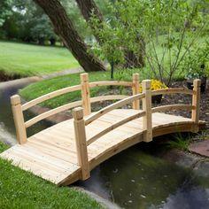 Have to have it. Coral Coast Harrison 6-ft. Wood Garden Bridge - $199.99 @hayneedle