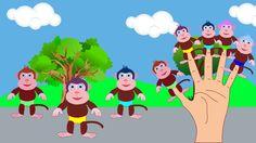 (Monkey's Family) Finger Family Nursery Rhyme   Kids Animation Songs For...