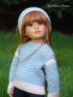 HandKnitted Gansey Sweater & Cap set for Kidz n Cats dolls by Debonair Designs #DebonairDesigns2015 #ClothingAccessories