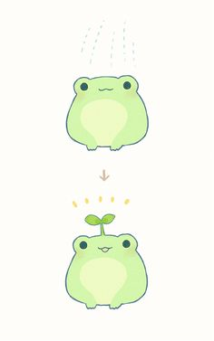 Discover recipes, home ideas, style inspiration and other ideas to try. Cute Animal Drawings, Kawaii Drawings, Cute Drawings, Arte Do Kawaii, Kawaii Art, Dessin Old School, Frog Drawing, Cute Frogs, Funny Frogs