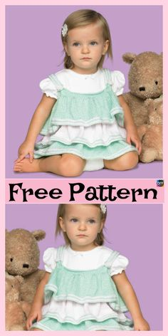 10 Most Unique Knitting Baby Dress - Free Patterns