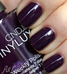 cnd vinylux rock royalty weekly nail polish swatch (I am intrigued by Vinylux but a bit skeptical. This color is gorgeous, though. - S)