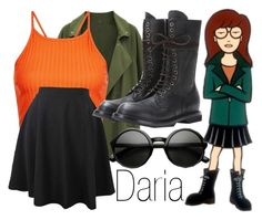 """Daria"" by basic-disney ❤ liked on Polyvore featuring daria, New Look and Rick Owens"