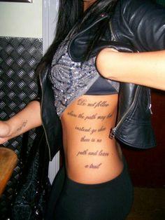 Love side tattoos