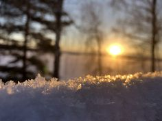 Finland in winter. Sunrise and 16 degrees celsius.