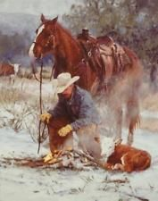 Bruce Greene Early Arrival Cowboy Calf Art Print  11 x 14