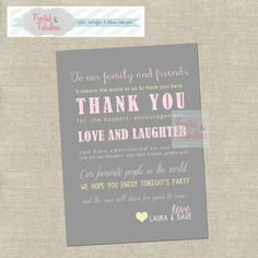 Wedding Thank You Note by FrostedandFabulous on Etsy