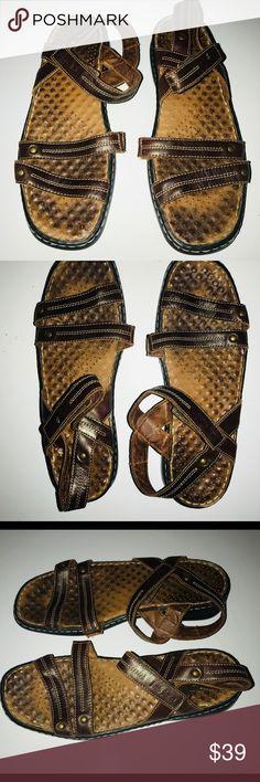 c77e4dce9a82 Josef Seibel Leather Women s Sandals Size 8.5 Josef Seibel Brown Leather  Women s Sandals Size 8.5 US