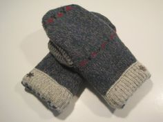 Fenton Wool Mittens  med/lg  MMC428 by MichMittensbyLauri on Etsy, $23.00