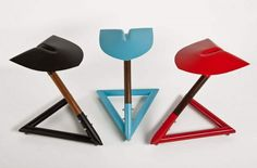 Amazing stools made from recycled shovels