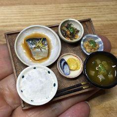インスタ練習中です まだ使い方がよくわかりません 写真は先月作ったサバの味噌煮です☆ #ミニチュア