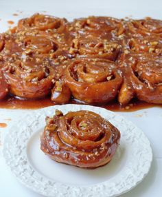 ... pecans is baked to perfection in a bourbon caramel sauce. A delicious