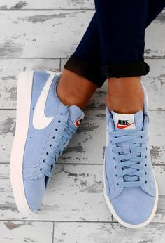 Shop women's footwear at Pink Boutique - we've got branded trainers and casual footwear from Nike, Converse and more! Blue Sneakers Outfit, Best Golf Shoes, Dresser, Cheap Dresses Online, Ted Baker Womens, Blue Nike, Blue Suede, Nike Shoes, Shoes