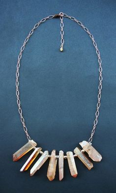 Etoile Jewelry | raw crystal necklace | jewellery design