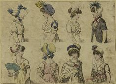 Mid-Manhattan Picture Collection / Women wearing hats c. 1805