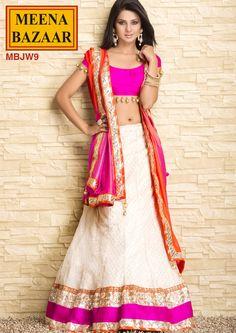 MBJW9 Gota Work Lehanga on Nett Fabrics with Shimmer Duppata