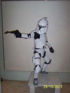 How to Make a Child Clone trooper costume from cardboard