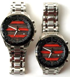 Mens Watch Recycled Skateboards Skate Art 042246 by SecondShot, #recycledskateboards #skatewatch