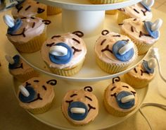 Baby, Baby Cupcakes -- cute for a baby shower!