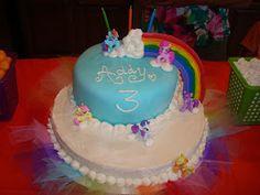 My Little Pony Rainbow Cake,  Rainbow Dash, Pinkie Pie, Fluttershy, Twilight, Rarity, My Little Pony Friendship is Magic
