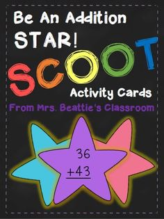 Do your students love addition games? Mine sure do! I know they will have fun with these fun 2-digit addition scoot task cards! Includes task cards, recording sheets and teacher answer key.