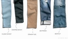 Khaki colored jeans would be great for work, especially in straight leg or skinny styles -- would look great with high boots.