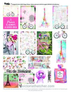 Ohhhhhhh The Paris life :) FREE planner printable
