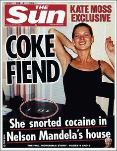 The kate-moss-mandela connection Kate Moss, Motto, Trauma, Celebrity Branding, Pete Doherty, Alcohol, Old Money, Nelson Mandela, Parents