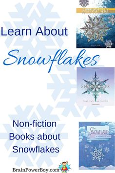 The wonderful snowflake--so much to learn about these beautiful crystals. We put together a best books for boys list of non-fiction books about snowflakes.