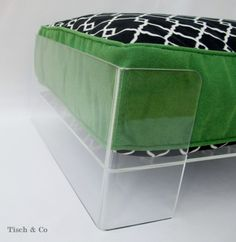 lucite dog bed~ gorg! a must have!