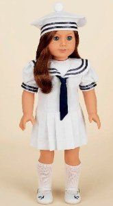 "Amazon.com: Antique Sailor Dress. Complete outfit with shoes. Fits 18"" Dolls like American Girl®: Toys & Games"