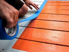 DIY Painted Deck Rug | Shelterness