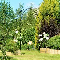 Garden Metal Arch Patio Decor Climbing Plants Flowers Roses Outdoor Furniture