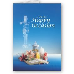 Religious Happy Occasion - Perfect for a special day ordination, anniversary, feast day and more!