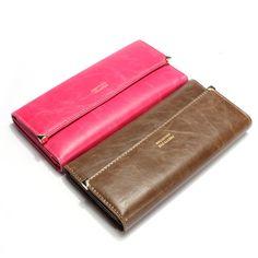 Vintage Wallet Women Matte PU Leather Purse New Clutch Wallet