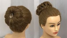 Hi Girls Learn easy new bun hairstyle, simple style. These easy to do simple technique hairstyles for girls can be done by anyone after watching thi… - New Site Easy Bun Hairstyles, Wedding Bun Hairstyles, Long Face Hairstyles, Easy Hairstyles For Medium Hair, Trending Hairstyles, Party Hairstyles, Girl Hairstyles, Hairstyles Videos, Chignon Hairstyle