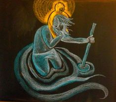Jerome and the Lion Chalkboard Blackboard Drawing, Chalkboard Drawings, Chalkboard Lettering, Chalk Drawings, St Christopher Tattoo, Saint Christopher, Saint Nicholas, Ancient Aliens, Ancient History